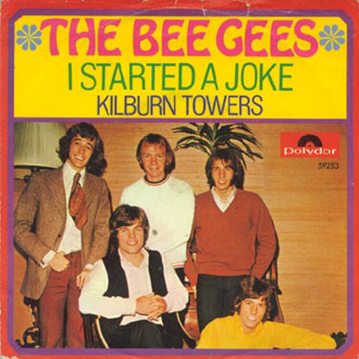 обложка сингла i started a joke / kilburn towers - дек. 1968